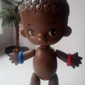 Кукла негр рельефные волосы ф-ка Победа СССР