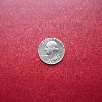 США 1/4 доллара (квотер) 1950 Редкий
