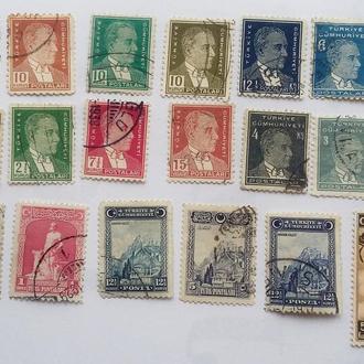 Турция 18 шт  1926 - 38 гг