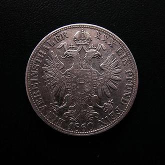 Австро-Венгрия, Франц Йосиф І 1 ферайнсталер 1860 А Серебро! Сохран!