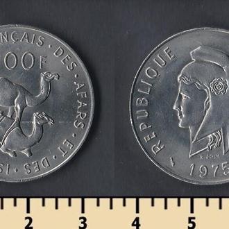 Французская Территория Афаров и Исса 100 франков 1975