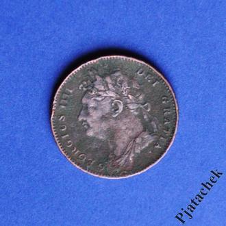 Великобритания 1 фартинг 1822 распродажа коллекции