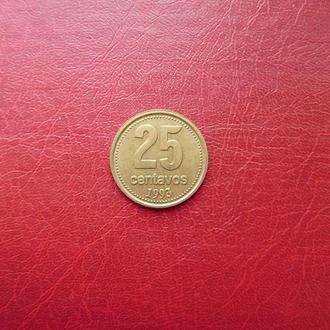 Аргентина 25 сентаво 1993