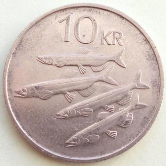 (А) Исландия 10 крон, 1987
