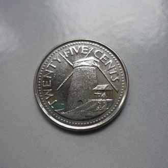 Барбадос 25 центов 2008