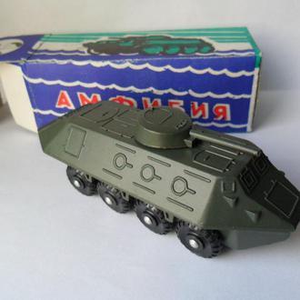 Модель амфибия БТР БМП с коробкой, военная техника СССР USSR