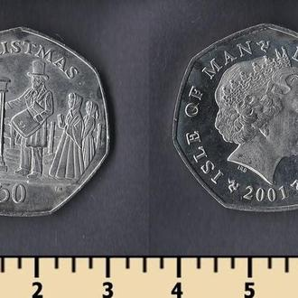 Мэн остров 50 пенсов 2001