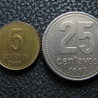 Монеты Аргентины 2 шт.
