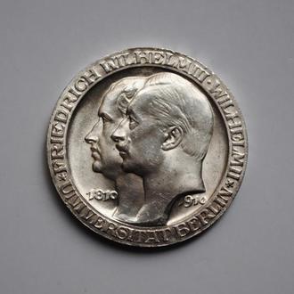 Пруссия 3 марки 1910 г., BU, 'Берлинский университет'