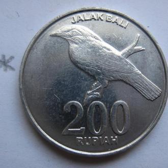 ИНДОНЕЗИЯ, 200 рупий 2003 года (птица).