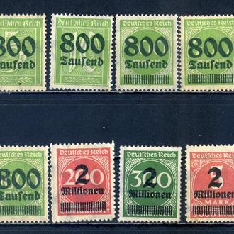Германия. Стандарт №2 (надпечатка)** и * 1923 г.