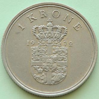 (А) Дания 1 крона, 1972