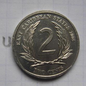 ВОСТОЧНО-КАРИБСКИЕ ГОСУДАРСТВА, 2 цента 2008 года.