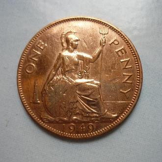 Великобритания 1 пенни 1949