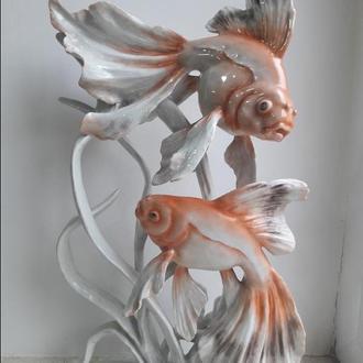 Фарфоровая статуэтка Золоые рыбки, Rosenthal, Германия, 1938 гг