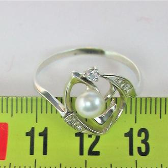 Кольцо перстень серебро 925 проба 2,42 гр 21 размер