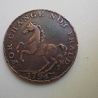 пол пенни 1794г. великобритания