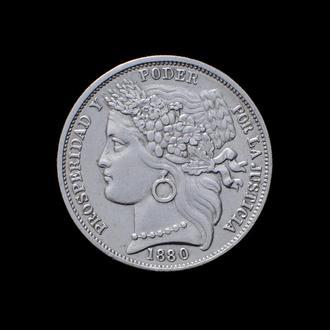 1 Песета 1880,(35) Перу