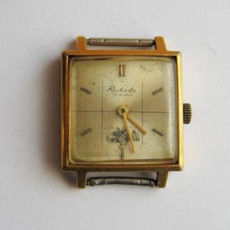МУЖСКИЕ  позолоченные часы РАКЕТА = механика = СССР = AU 20