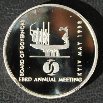 Украина 2 гривны 1998 Ежегодные сборы ЕБРР в Киеве. копия