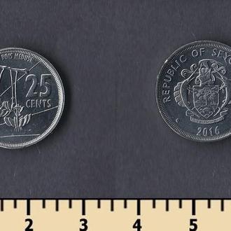 Сейшельские острова 25 центов 2016