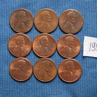США   1 цент  1989 г