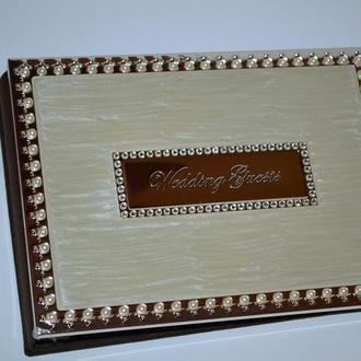 новый альбом для гостей на свадьбе wedding guests book contains 100 papers England Англия в коробке
