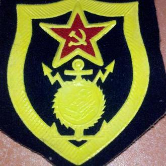 Шеврон Военно-строительных частей  ВС СССР, Стройбат (Зел)