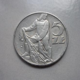 Польша 5 злотых 1974