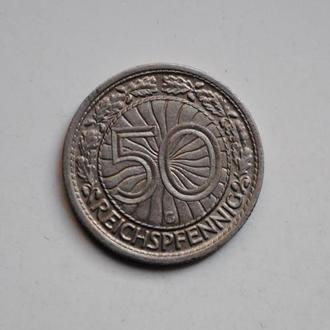 Германия 50 пфеннигов 1928 г. G