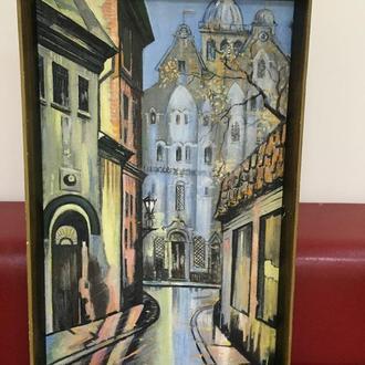 """Картина """"Улица в старой Риге"""""""