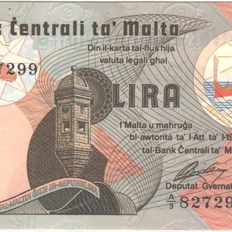 Мальта 1 лира 1967 (1979)г. в  UNC