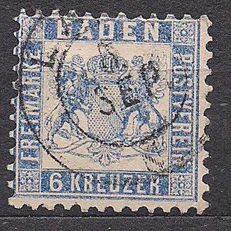 Баден, 1862г., немецкие земли, марка № 19