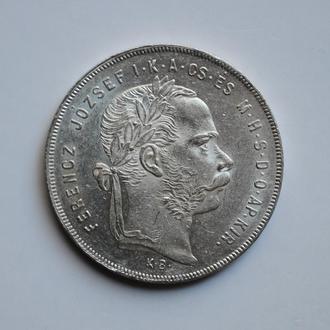 Австро-Венрия 1 форинт 1878 г., UNC, 'Император Франц Иосиф I (1848 - 1916)'
