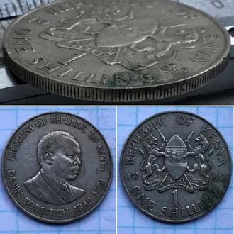 Кения 1 шиллинг, 1980г. Период Республика Кения (1966 - 2013) /Медно-никелевый сплав