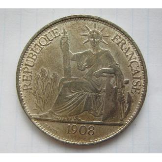 ФРАНЦУЗСЬКИЙ ІНДОКИТАЙ 1908 ПІАСТР = КОПІЯ