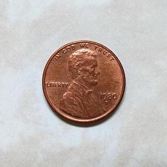 США, 1 цент 1980 г. D