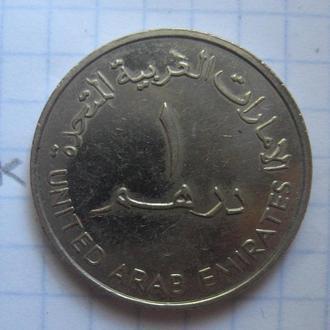 ОБЪЕДИНЕННЫЕ АРАБСКИЕ ЭМИРАТЫ. 1 дирхам 1989 года (КУВШИН, крупный монетный кружок).