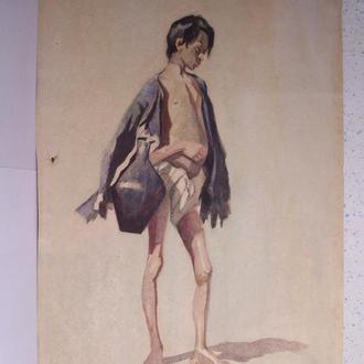 Бразоль Юлия, татарский мальчик с кувшином, Крым, 1904 год.