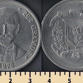 Доминиканская республика 1 песо 1978