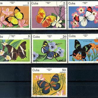 Куба. Бабочки (серия) 1984 г.