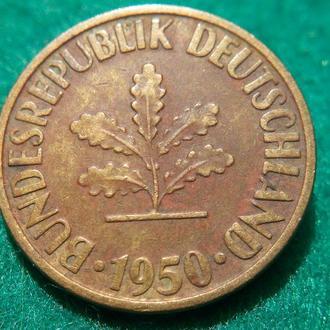 Германия 10 пфеннигов 1950 D (1)