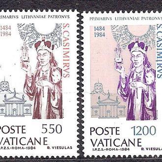 Ватикан**, 1984 г., 500 лет со дня смерти святого Казимира