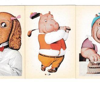 Календарики 1992 Мультфильмы, рисунки