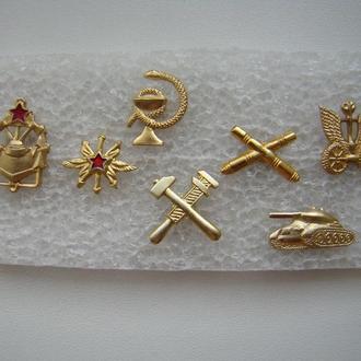 Эмблемы ВС СССР 7 шт., разные.