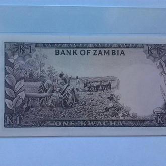Замбия , 1 Kwacha 1976 , Bank of Zambia , UNC пресс