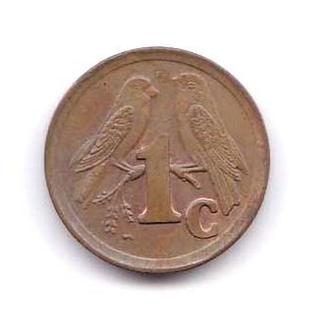 ЮАР  1993 г - 5 цент - 2 скана - фауна