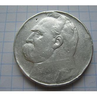 10 ЗЛОТИХ 1937 ПІЛСУДСЬКИЙ