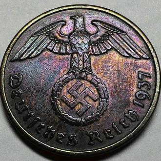 Третий рейх 2 пфеннига 1937 A, БЕРЛИН! СОСТОЯНИЕ!!