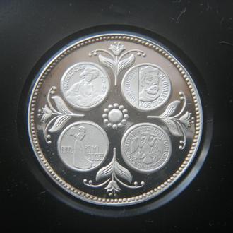 Германия жетон календарь 1978 года Серебро